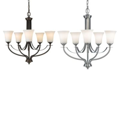 Feiss® Barrington 5-Light Single Tier Chandelier in Brushed Steel