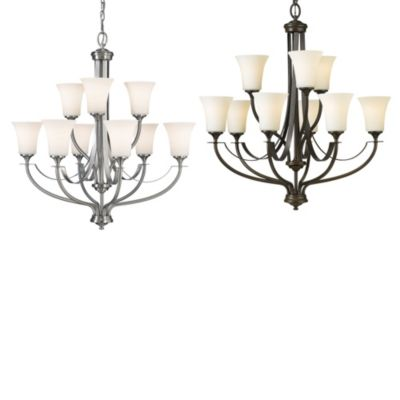 Feiss® Barrington 9-Light Multi-Tier Chandelier in Oil Rubbed Bronze