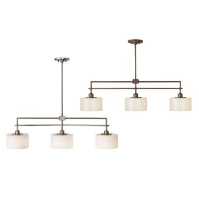 Feiss® Sunset Drive 3-Light Island Chandelier in Corinthian Bronze