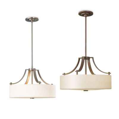 Feiss® Sunset Drive 3-Light Uplight Chandelier in Brushed Steel