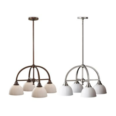 Feiss® Perry 4-Light Kitchen Chandelier in Heritage Bronze
