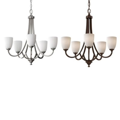 Feiss® Perry 5-Light Chandelier in Heritage Bronze