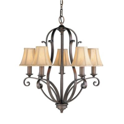 Feiss Tuscan Villa 5-Light Chandelier in Corinthian Bronze