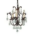 Feiss® Maison de Ville 3-Light Mini DuoMount Chandelier with Prismatic Glass Crystals