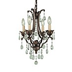 Feiss® Maison de Ville 4-Light Mini DuoMount Chandelier with Prismatic Glass Crystals