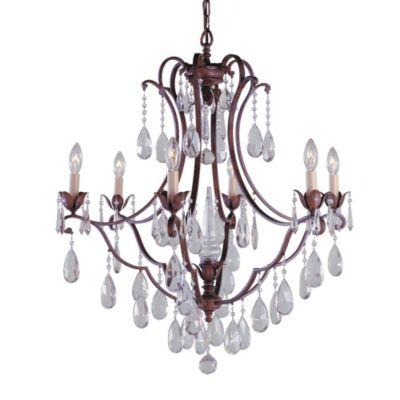Feiss® Maison Deville 6-Light Chandelier in Bronze