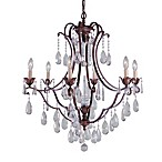Feiss Maison Deville 6-Light Chandelier in Bronze
