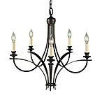Feiss® Boulevard 5-Light Chandelier with Candelabra Sockets