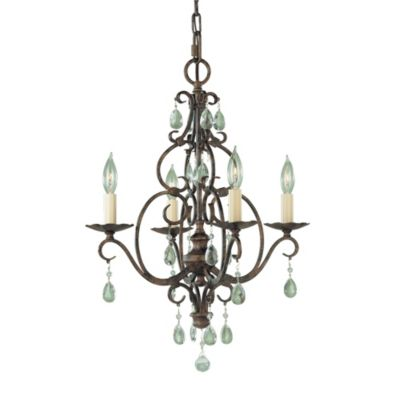 Feiss® Mocha Bronze 4-Light Chandelier