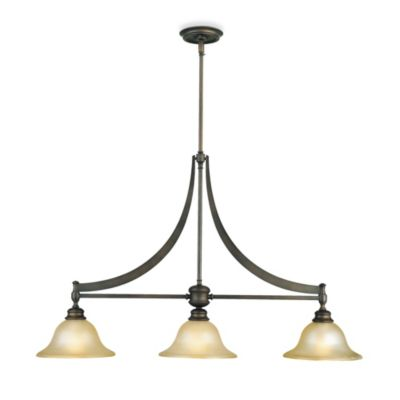 Feiss Pub 3-Light Chandelier in Oil Rubbed Bronze