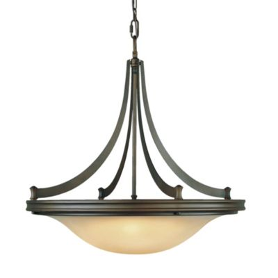 Feiss Pub Four Light Oil Rubbed Bronze Chandelier