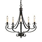 Feiss Cervantes 5-Light Chandelier in Liberty Bronze