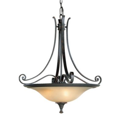 Feiss® Cervantes Three Light Liberty Bronze Chandelier