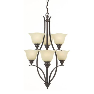 Feiss® Morningside 6-Light Multi-Tier Chandelier