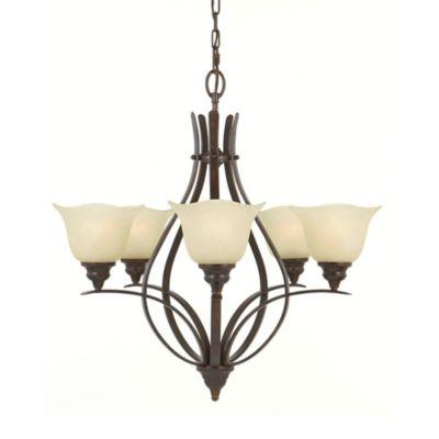 Feiss® Grecian Bronze 5-Light Chandelier