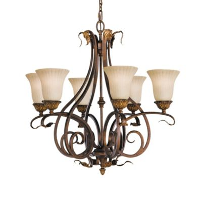 Feiss® Sonoma Valley 6-Light Aged Tortoise Shell Chandelier
