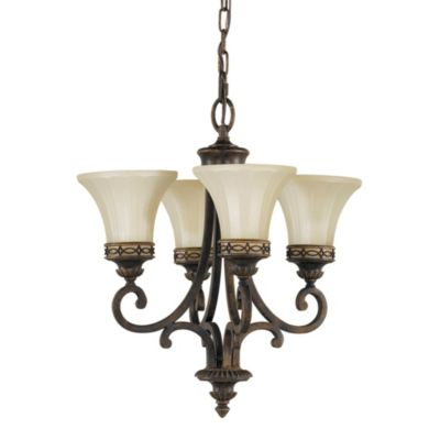 Feiss® Drawing Room 4-Light Chandelier in Walnut