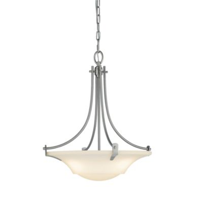 Feiss® Barrington 3-Light Uplight Chandelier in Brushed Steel