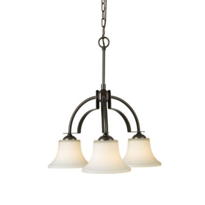 Feiss® Barrington Three Light Oil Rubbed Bronze Kitchen Chandelier