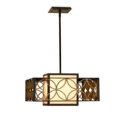 Feiss® Remy Collection 2-Light Chandelier in Bronze/Parisienne Gold