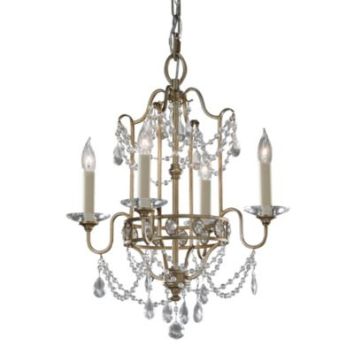 Feiss® Gianna 4-Light Mini Duo Chandelier in Gilded Silver