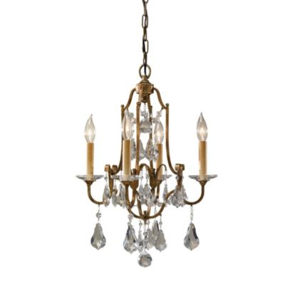 Feiss® Valentina Collection 4-Light Mini Duo Chandelier with Crystal Accents