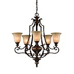 Feiss® Firenze Gold/British Bronze 5-Light Chandelier