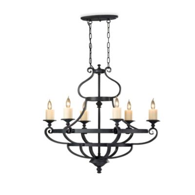Feiss® King's Table 6-Light Single Tier Chandelier