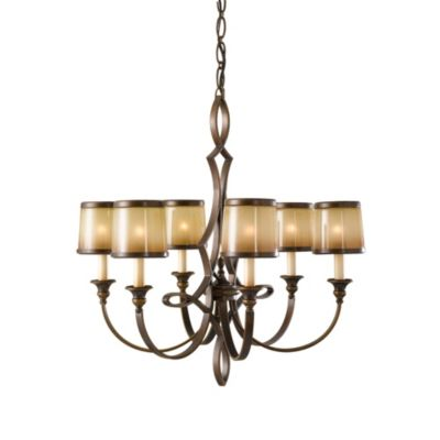 Feiss® Justine 6-Light Astral Bronze Chandelier