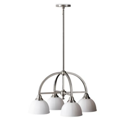 Feiss® Perry 4-Light Kitchen Chandelier in Brushed Steel