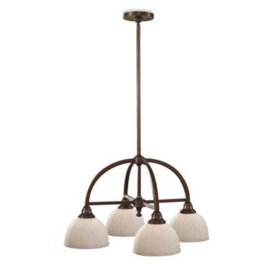 Feiss® Perry 4-Light Kitchen Chandelier in Heritage Bronze