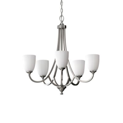 Feiss® Perry 5-Light Chandelier in Brushed Steel