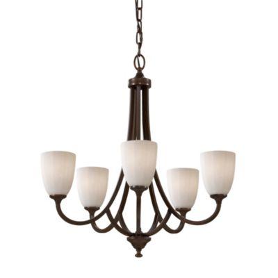 Feiss® Perry 5-Light Chandelier in Heritage Bronze