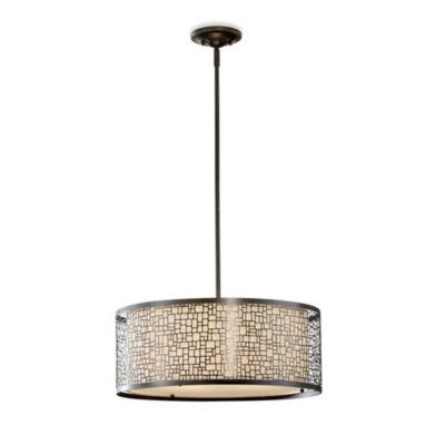 Feiss® Joplin 3-Light Pendant in Light Antique Bronze