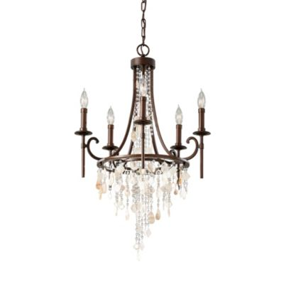 Feiss® Cascade 5-Light Chandelier in Heritage Bronze