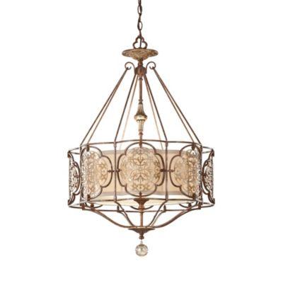 Feiss® 3-Light British Oxidized Bronze Chandelier