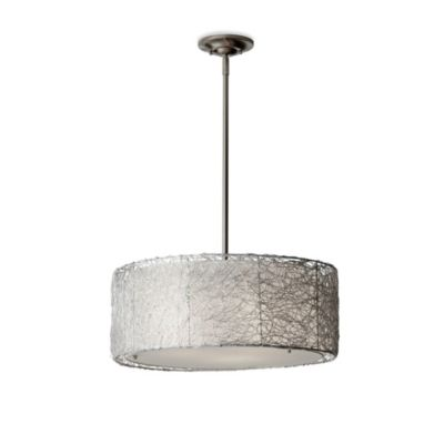 Feiss® Wired Pendant Light in Brushed Steel