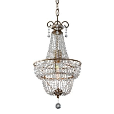 Feiss® Dutchess One Light Burnished Silver Chandelier