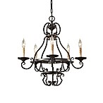 Feiss Barnaby Five Light Liberty Bronze Chandelier