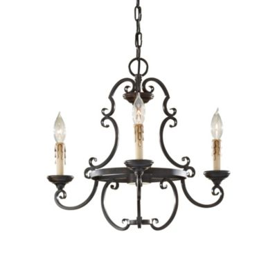 Feiss Barnaby Collection 3-Light Chandelier in Liberty Bronze