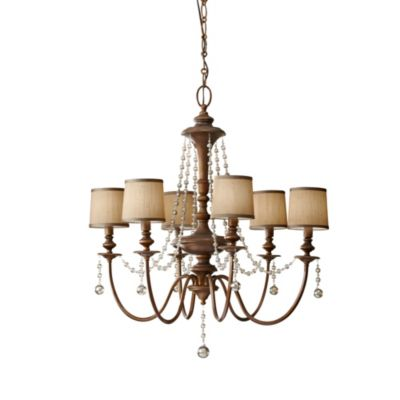 Feiss® Clarissa 6-Light Firenze Gold Chandelier