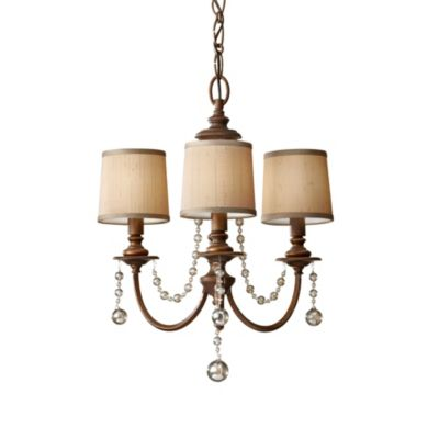 Feiss® Clarissa 3-Light Firenze Gold Mini Chandelier