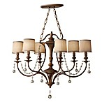 Feiss Clarissa 6-Light Firenze Gold Mini Chandelier