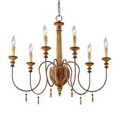Feiss Annabelle 6-Light Single-Tier Light in Ivory Crackle