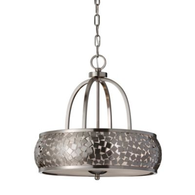 Feiss® Zara 4-Light Brushed Steel Chandelier