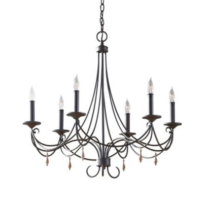 Feiss® Alya 6-Light Single Tier Chandelier