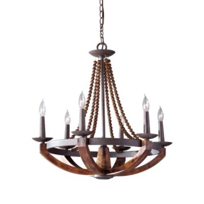 Feiss® Adan Rustic Iron 6-Light Chandelier