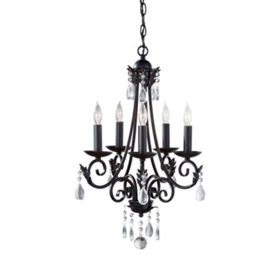 Feiss® Nadia 5-Light Chandelier in Black
