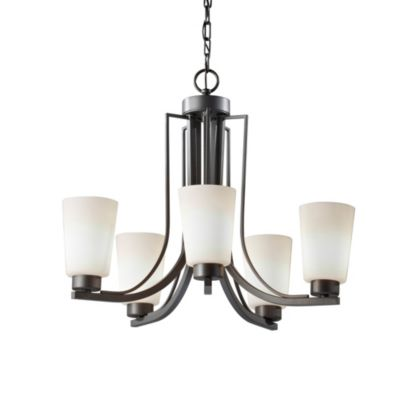 Feiss® Weston 5-Light Chandelier in Colonial Iron