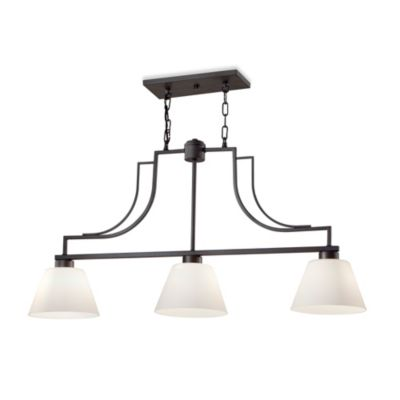 Feiss® Weston Collection 3-Light Chandelier in Colonial Iron